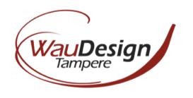 WauDesign Tampere – mainostoimiston logo