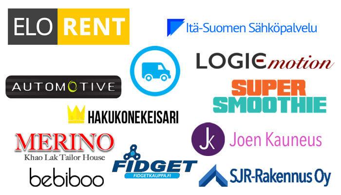 Yrityksen logon suunnittelu esimerkkejä valmiista logoista